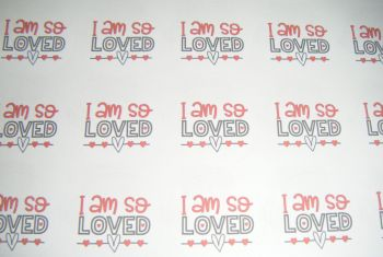 A4 35 Per Sheet Sheet of I Am So Loved Stickers