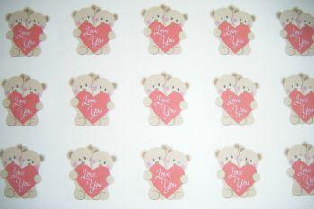 A4 35 Per Sheet Sheet of Love You Bears Stickers