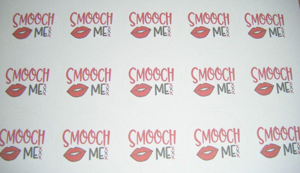 A4 35 Per Sheet Sheet of Smooch Me Stickers