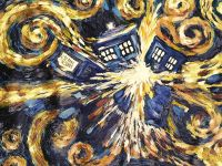 Dr Who - Exploding Tardis - Canvas Wall Art