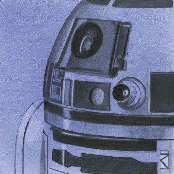R2-D2 Star Wars Sketch Canvas Wall Art