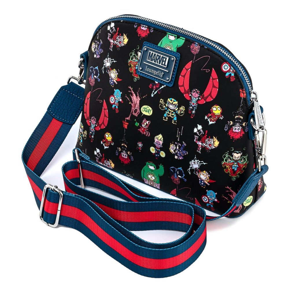 Skottie Young Marvel Characters Chibi Loungefly Cossbody Bag
