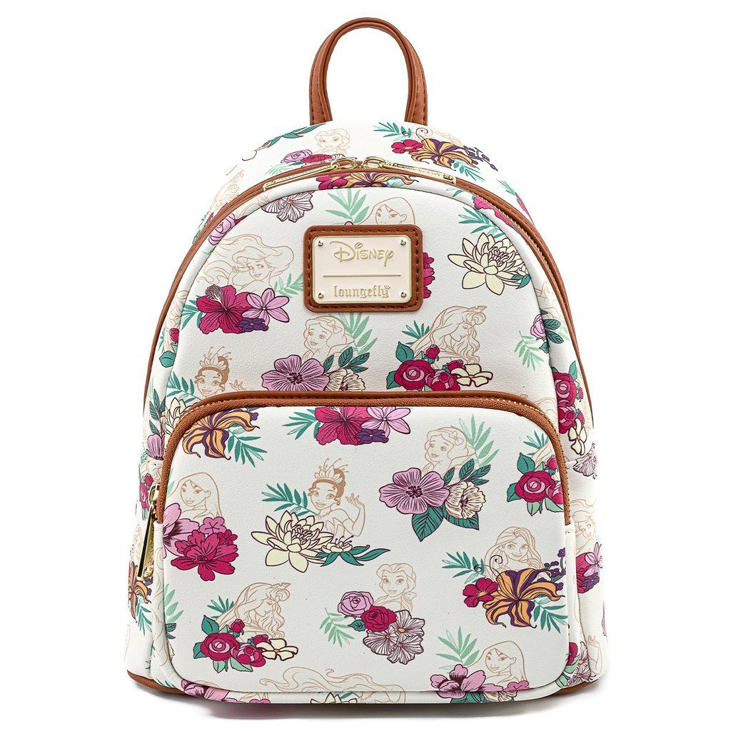 Disney Princess Floral Loungelfy Mini Backpack