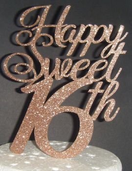 Happy Sweet 16th Cake Topper
