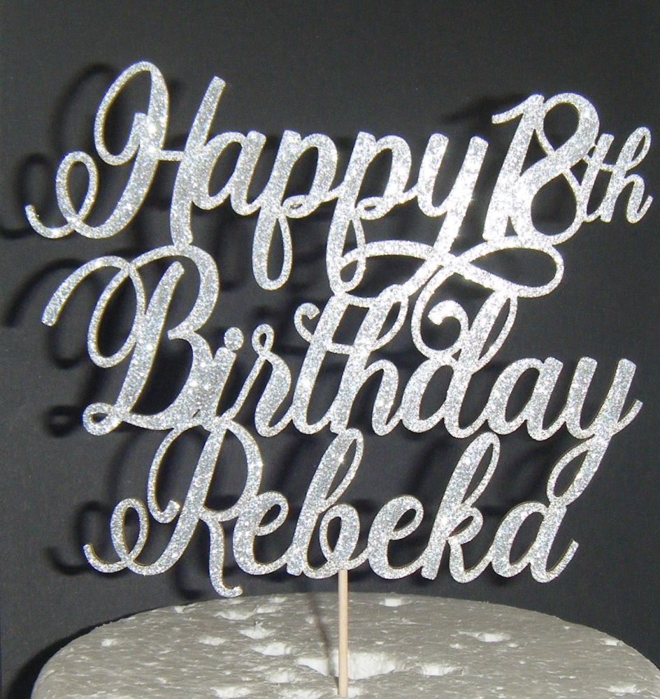 Happy Number Birthday and Name Topper Custom Made To Order 7 (Stay)