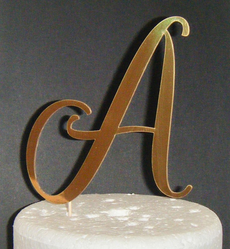 Single Initial Letter Topper 2 - Same Style Font as shown