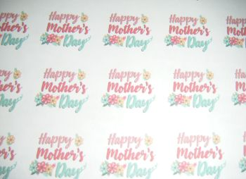 A4 35 Per Sheet Sheet of Happy Mother's Day Stickers