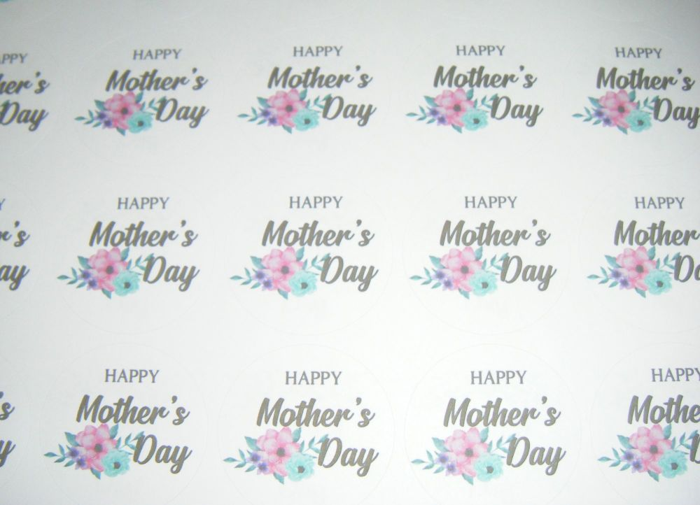 A4 35 Per Sheet Sheet of Happy Mother's Day Design 4 Stickers