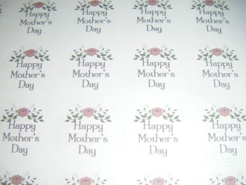 A4 35 Per Sheet Sheet of Happy Mother's Day Design 5 Stickers