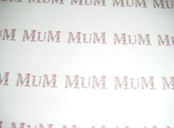 A4 35 Per Sheet Sheet of Mum Stickers