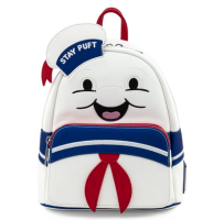 Ghostbusters Stay Puft Marshmallow Man Loungefly Mini Backpack