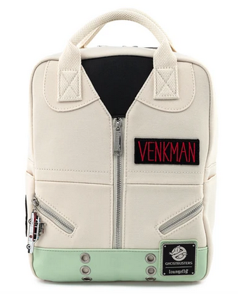 Ghostbusters Venkman Loungefly Square Canvas Mini Backpack