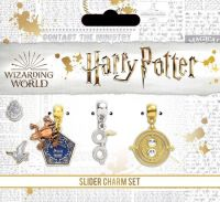 Harry Potter Silver Plated Charm Set including Chocolate Frog, Glasses & Time Turner Charm Set
