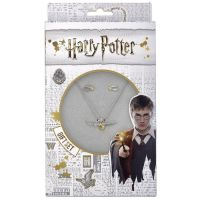 Harry Potter - Golden Snitch Necklace and Stud Earring Set