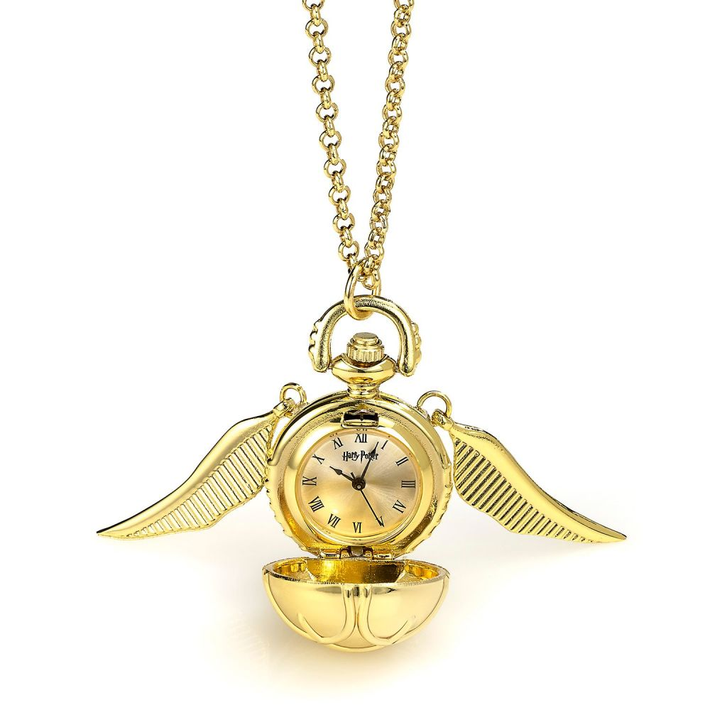 Harry Potter - Gold Plated Golden Snitch Watch Necklace