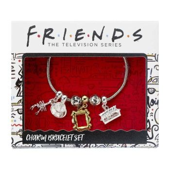 Friends - Silver Plated Charm Bracelet with 4 Charms