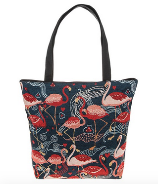Flamingo Tapestry Fun Tote Bag  Mixed Flamingoes