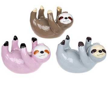 Ceramic Money Box Bank - Brown Sloth