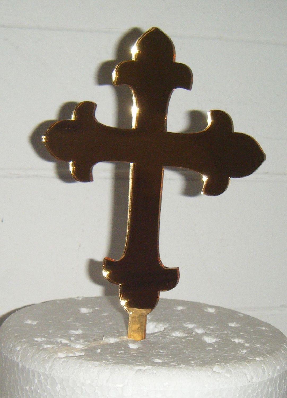 Baptism Christening Cross Cake Topper