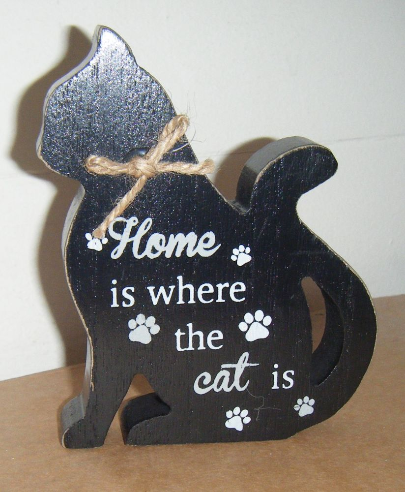 Home Is Where The Cat Is - Cat Shaped Block