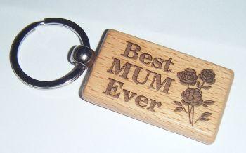 Wooden Keyring  - Best Mum Ever
