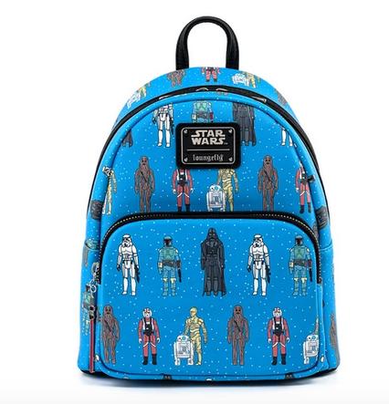 Star Wars AOP Action Figures Bag - Loungefly Mini Backpack