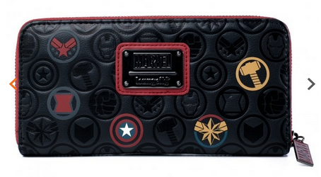 Loungefly Wallet Marvel Icons Zip Round Purse