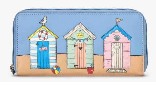 Happy Daze Zip Round Leather Purse - Yoshi