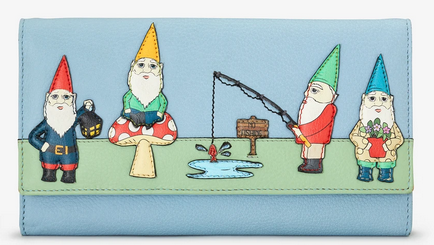 Gnome Sweet Gnome Flap Over Leather Purse - Yoshi