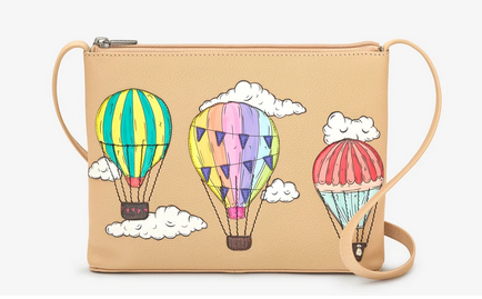 Amongst The Clouds Leather Cross Body Bag