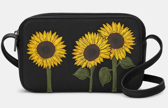 Sunflower Leather Cross Body Bag