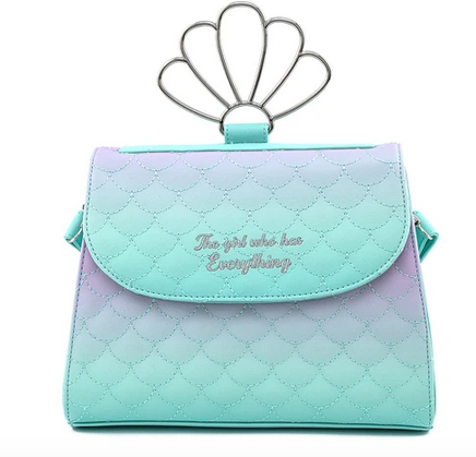 Disney Little Mermaid Ombre Scales Loungefly Crossbody Bag