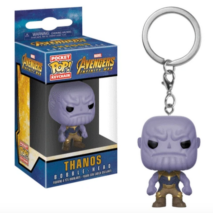 Avengers Infinity War - Thanos - Mini Funko Pocket Pop Keyring Keychain