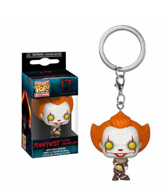 IT Pennywise With Beaver Hat - Mini Funko Pocket Pop Keyring Keychain