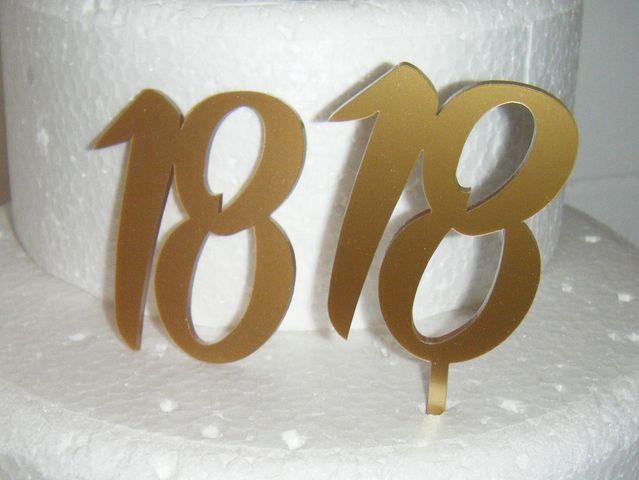 Custom Mini Number Cake Topper or Cake Embellishement