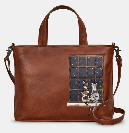 Midnight Cats Leather Multiway Grab Bag