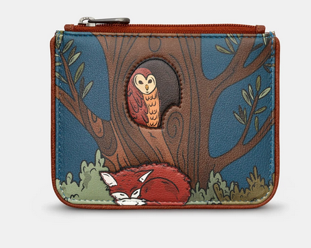 Woodland Friends Zip Top Leather Coin Purse - Yoshi