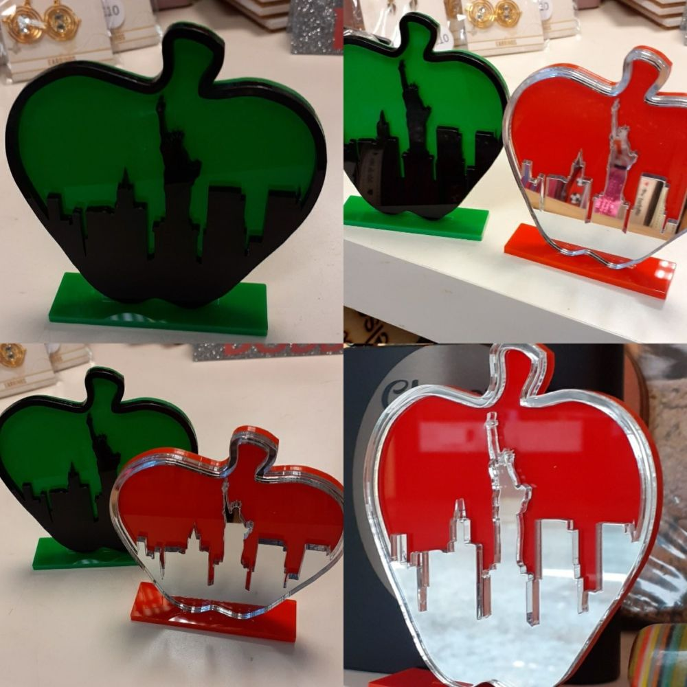 The Big Apple New York - Acrylic Laser Sign