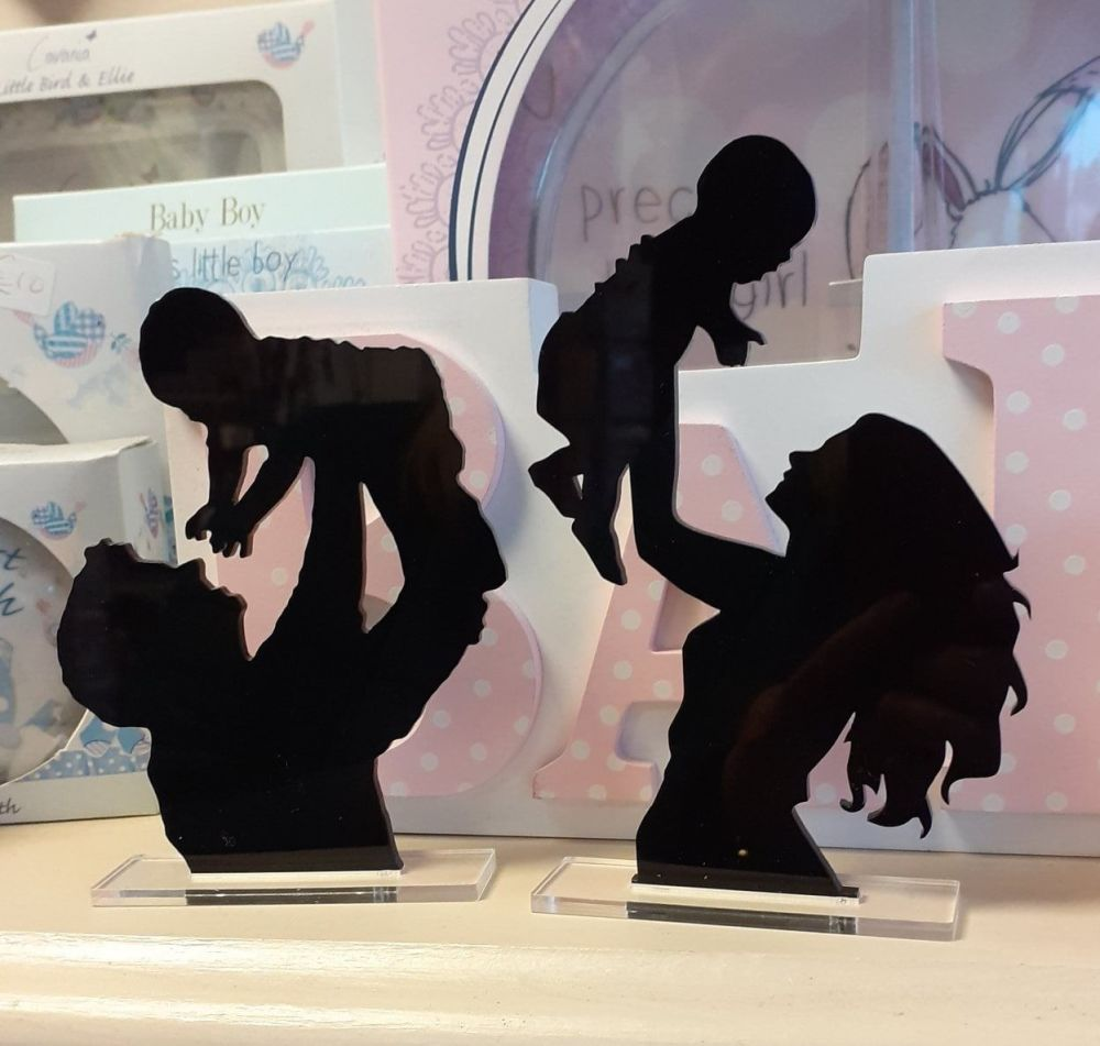 Parents Silhouettes - Acrylic Laser Cut Sign