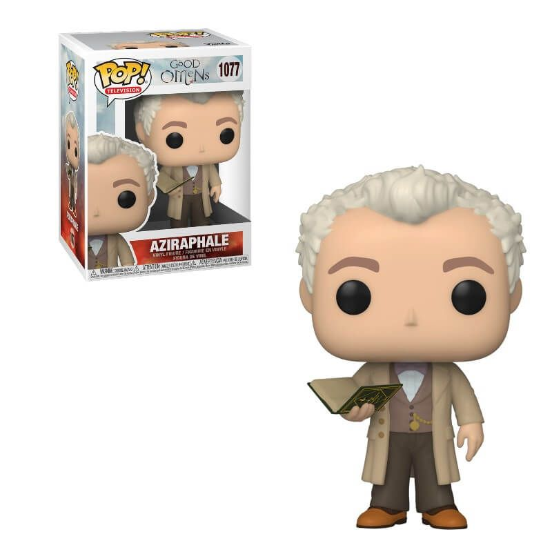 Good Omens - Aziraphale with Book - Funko Pop 1077