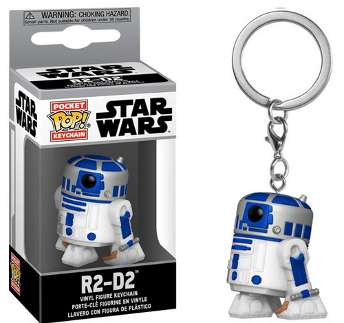 Star Wars - R2-D2 - Mini Funko Pocket Pop Keyring Keychain