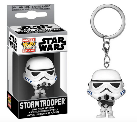 Star Wars - Stormtrooper - Mini Funko Pocket Pop Keyring Keychain