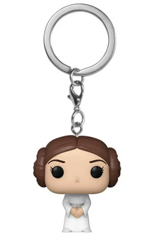Star Wars - Princess Leia - Mini Funko Pocket Pop Keyring Keychain
