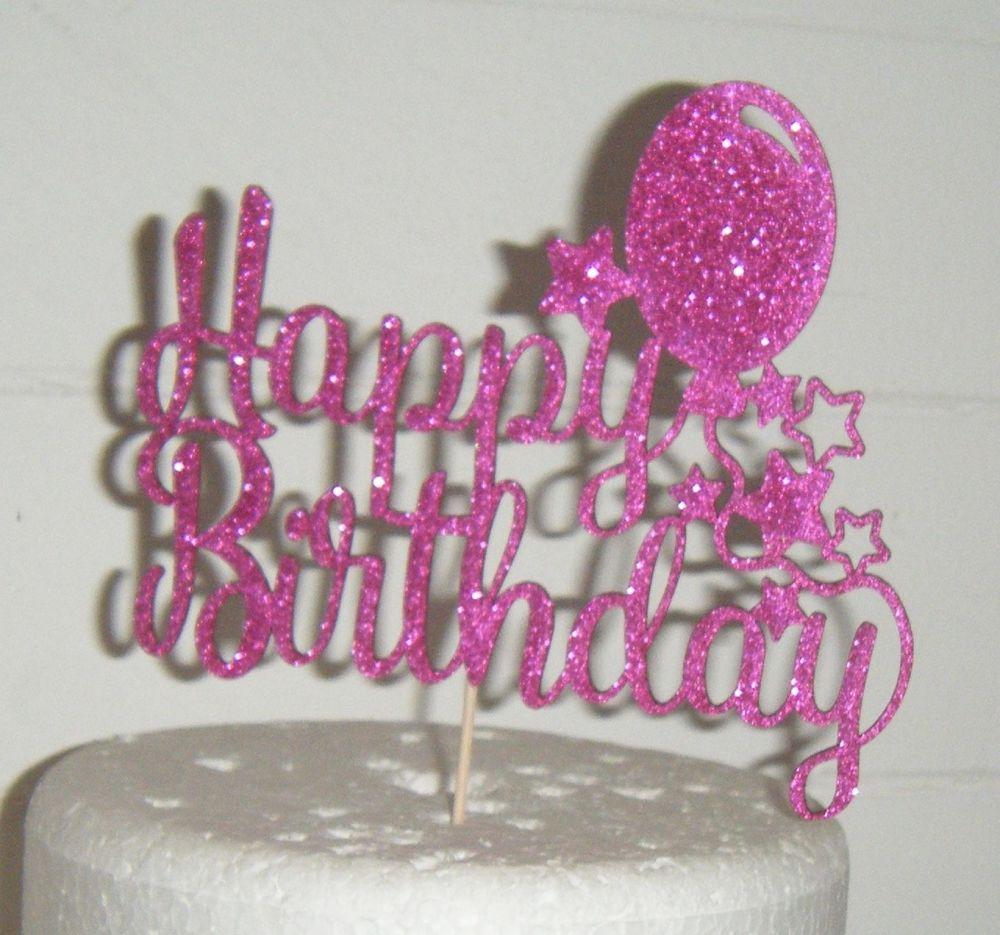 Happy Birthday Balloons Cake Topper