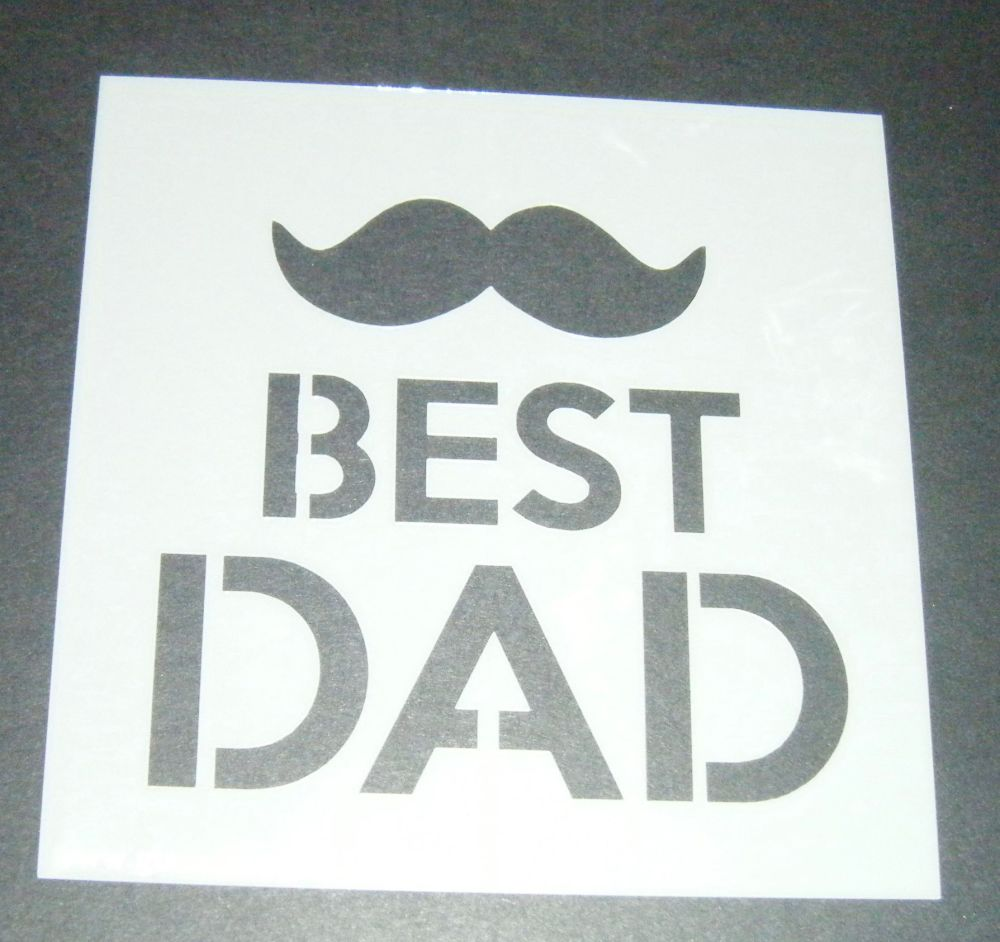 Best Dad Mustache - Cake Decorating Stencil Airbrush Mylar Polyester Film