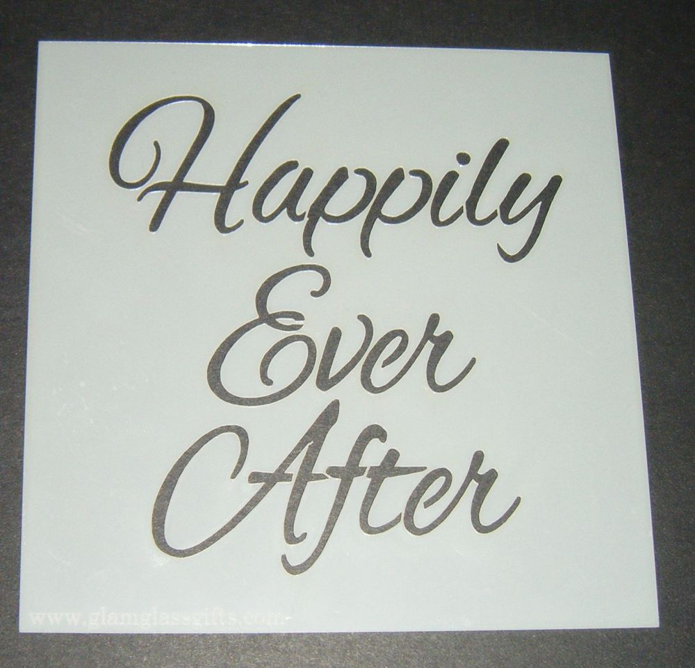 Happily Ever After Design 2 - Cake Decorating Stencil Airbrush Mylar Polyes
