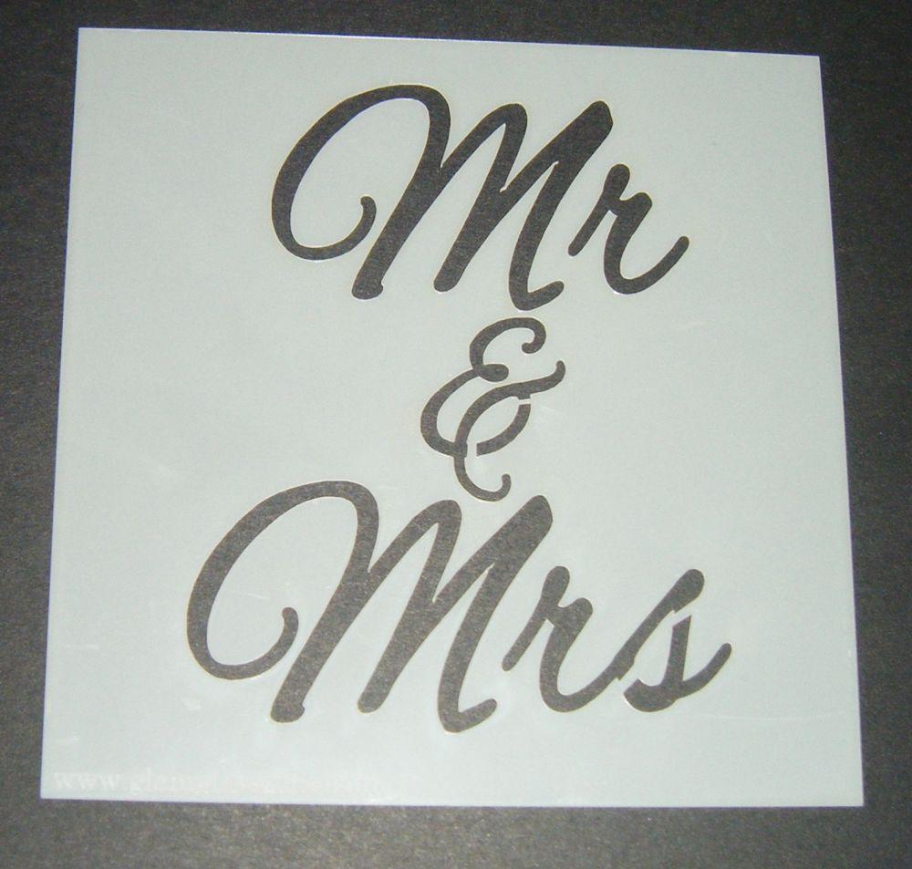Mr & Mrs - Cake Decorating Stencil Airbrush Mylar Polyester Film