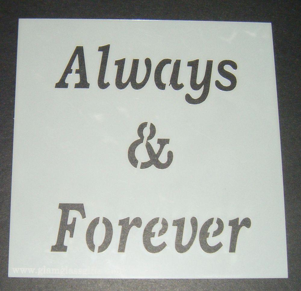 Always & Forever - Cake Decorating Stencil Airbrush Mylar Polyester Film