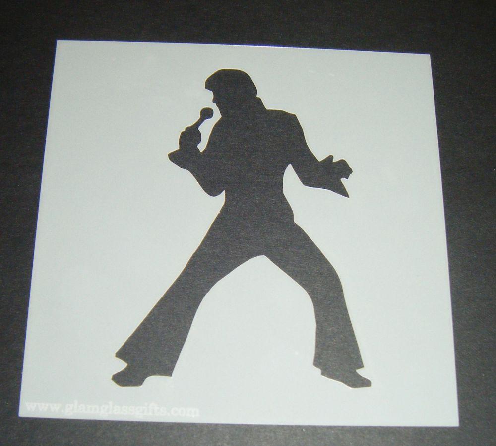 Elvis Design 5 Cake Craft Stencil