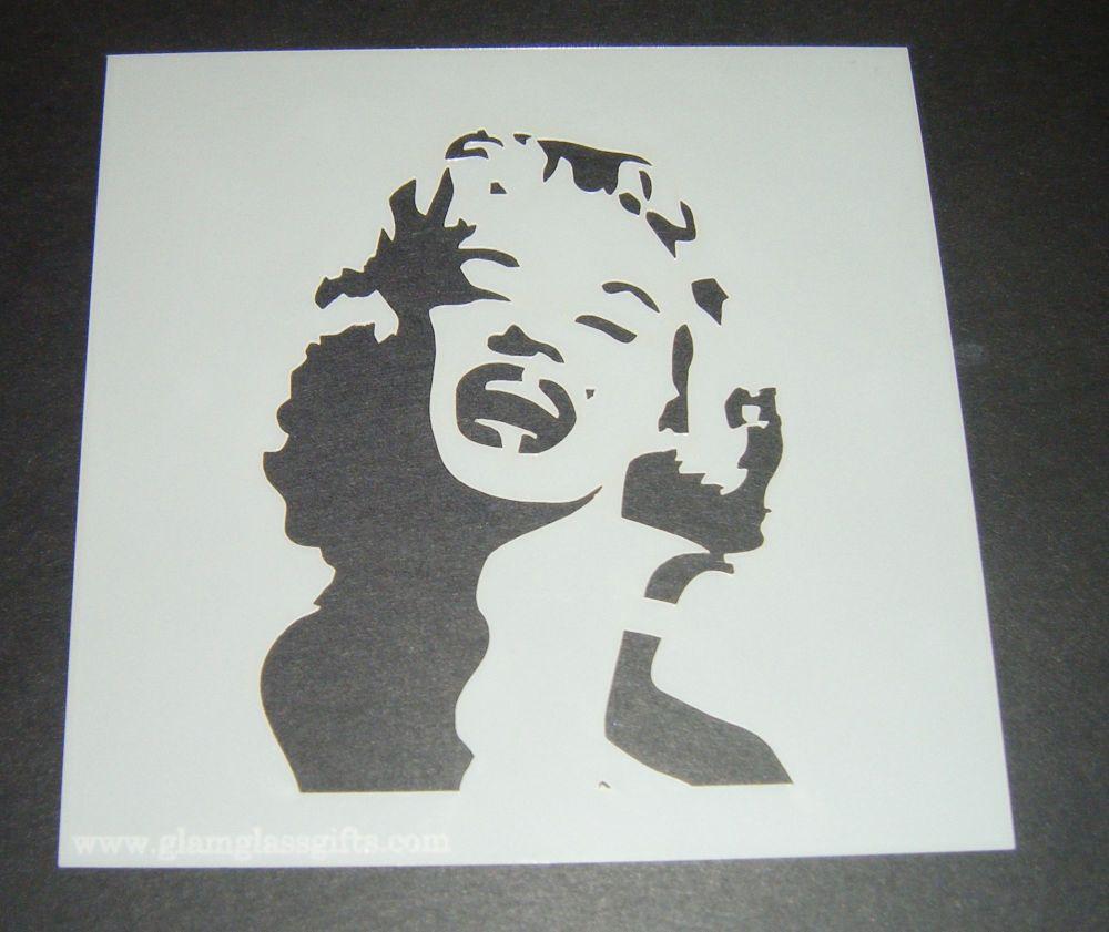 Marilyn Monroe Design Cake Craft Stencil